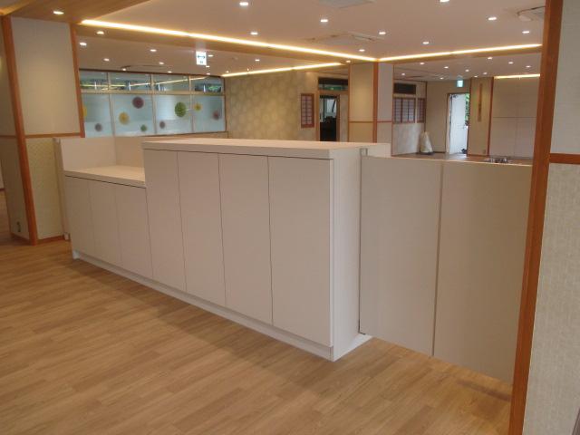 6月23日、食堂改修工事は本日でほぼ作業が完了しました