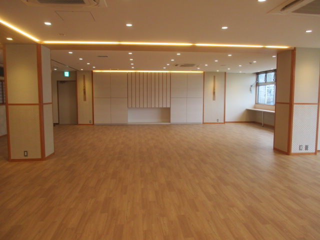 6月25日 食堂改修工事の竣工検査が行われました