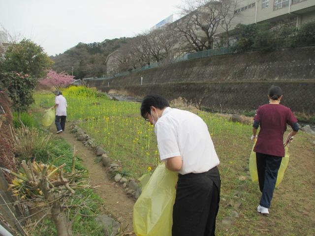 2月23日 ボランティア清掃をしました
